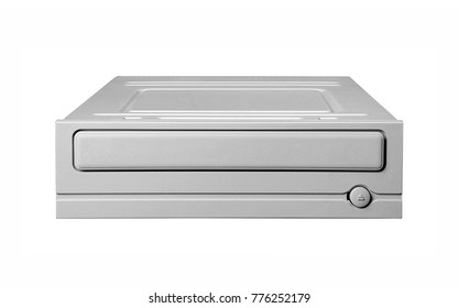 Optical disk drive isolated on white
