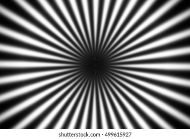 Optical effective hypnotic, converging black and white rays