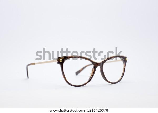 Optical Eyeglasses Glasses Isolated On White Stock Photo