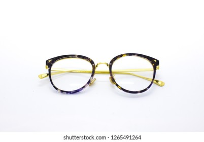 Optical frame isolated on a white background. Optic glasses