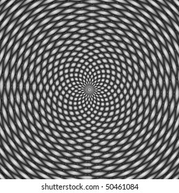 Optical illusion, black and white