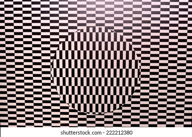 Optical illusion textured geometric seamless background pattern
