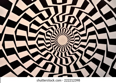 Optical illusion textured geometric seamless background pattern