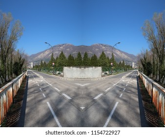 What If Two Roads Are Illusion What If >> Illusion Road Images Stock Photos Vectors Shutterstock