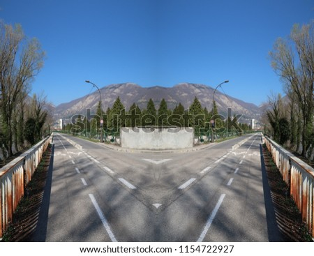 What If Two Roads Are Illusion What If >> Optical Illusion Two Symmetrical Roads Illusion Stock Photo Edit