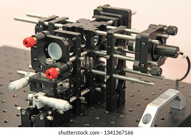 optical interferometer with the beam reflecting off the gas molecules in the device's chamber.