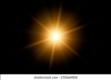 Optical lens flare on black background. - Shutterstock ID 1705669858