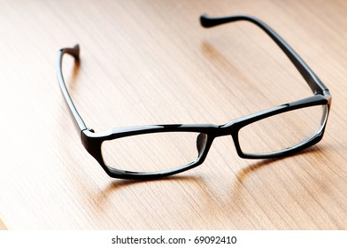 Optical reading glasses on the background