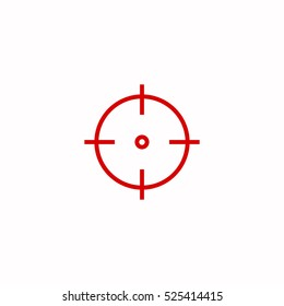 optical sight target outline, thin, flat, digital icon for web and mobile