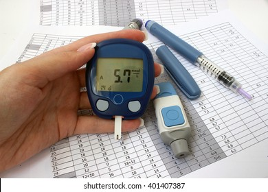 The optimal blood glucose levels in a female hand