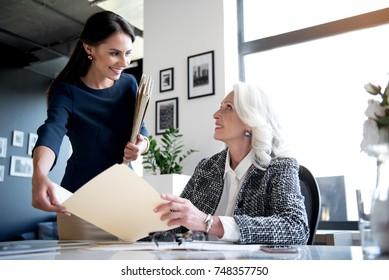 Optimistic females are enjoying their job