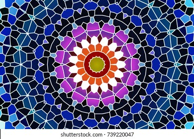 The options of patterns for decoration of floors and walls. geometric ornament. Decorative mosaic texture. abstract background. mosaic patterns