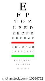 Optometrist chart