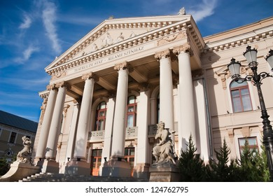 Oradea Theatre building: The construction had begun in 1899 after the plans of the Vienesse firm Fellner and Helmer what planed almost 50 theaters in Europe among others the ones of Timisoara, Cluj...