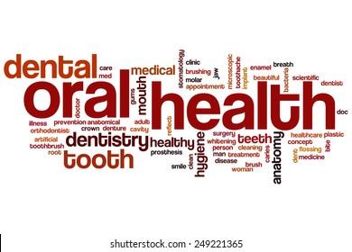 Oral health word cloud concept