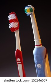 Oral Hygiene - Electric toothbrush and manual toothbrush.