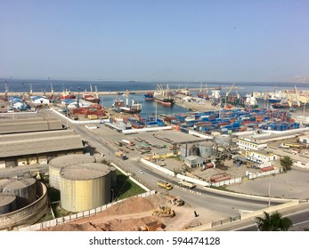ORAN, ALGERIA - MAR 3, 2017:Port Oran is the country's second largest port after Algiers.Oran also called Wahran French Ouahran  located northwestern Algeria.It lies along the Mediterranean Sea coast