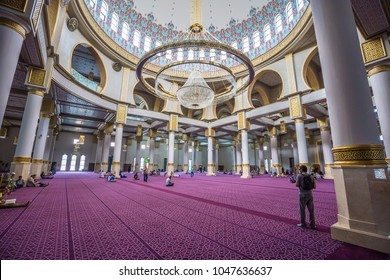 Oran - June 03, 2017: Inside the Ibn Badis central mosque of Oran, Algeria