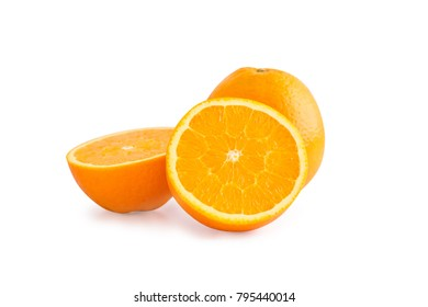 Orang slice isolate on a white background with clipping path.