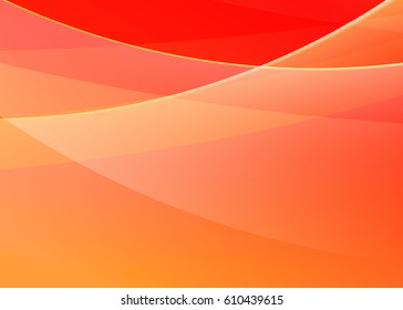 Orange abstract template for card or banner. Abstract background for design and illustration