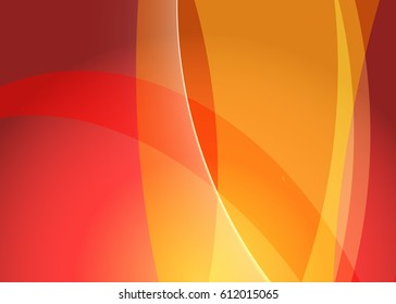 Orange abstract template for card or banner. Abstract background