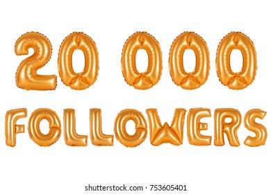orange alphabet balloons, 20K (twenty thousand) followers, orange number and letter balloon