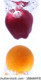 orange and apples