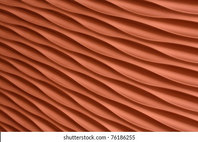 Orange artistic background with waves and stripes