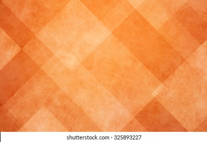 orange autumn background, halloween and Thanksgiving color, abstract background with angled lines, blocks, squares, diamonds, rectangles and triangle shapes layered in checkered style abstract pattern