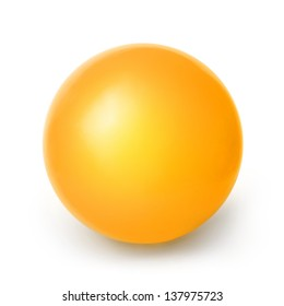 Orange ball isolated on a White background with clipping path