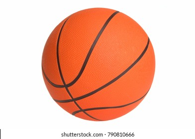 Orange basketball : Simple Isolated Objects on White Background