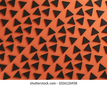 orange and black triangular two color textured background