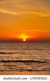 The orange blossom coast during a beautiful sunrise, Spain