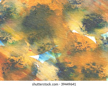 orange and blue abstract watercolor background