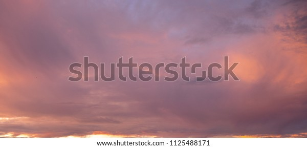 Orange and blue cloud background