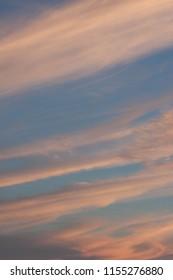 orange blue sunset