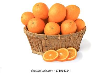Orange branch isolated on white background