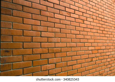 Orange brick wall for background or texture