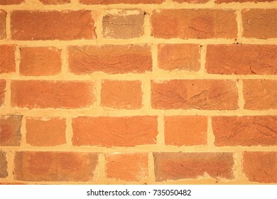 Orange brick wall background texture, Autumn in VA USA.