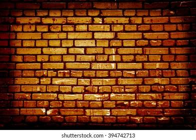 Orange brick wall empty