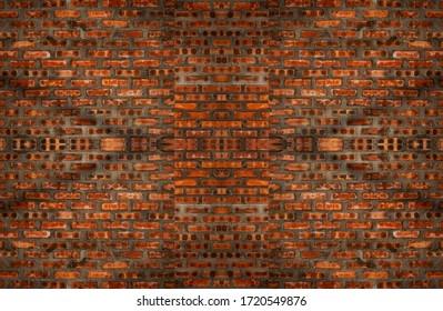 Orange brick wall texture background