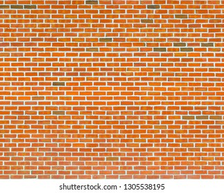 Orange brick wall texture with white joints