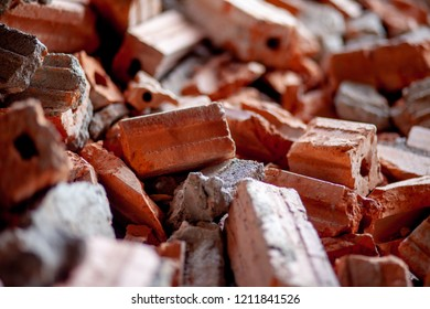 orange broken bricks