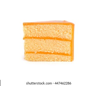 orange cake close up on background
