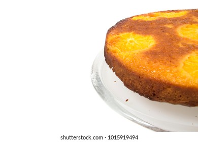 Orange cake on a white background
