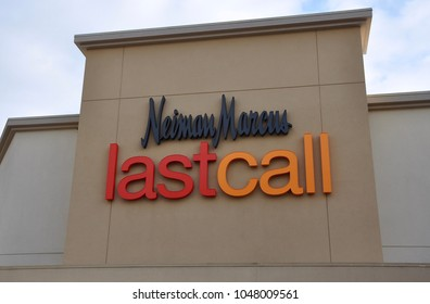 Orange, California - January 11, 2018: Sign of Neiman Marcus LastCall in front of the store.
