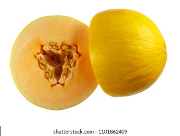 Orange Candy Melon is a new variety of melon, very sweet and a very crispy texture flesh