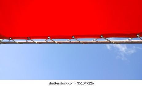 orange canvas and sky