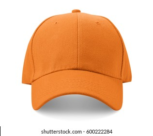 Orange cap isolated on white background.