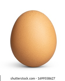 Orange chicken egg with clipping path. This file is cleaned and retouched.